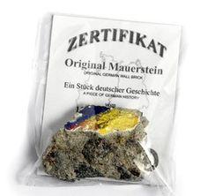 Original Mauerstein mit Zertifikat - Souvenirs