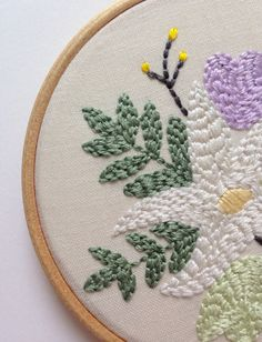 Spring Wild Bloom Embroidered Hoop Hoop Art by wildbloomstitch Hoop, Artworks, Easter, Embroidery, Wall Art, Spring, Artist, Cards, Gifts