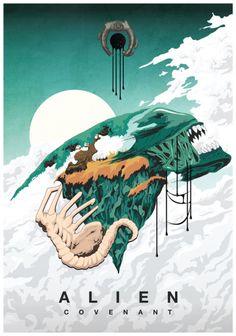 Century Fox Australia's Alien: Covenant poster competition. Alien Film, Alien 1979, Alien Art, Alien Covenant, The Covenant, Saga Art, Giger Alien, Poster Competition, Alien Isolation