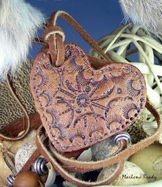 Marlene Brady: Polymer Clay Faux Leather Heart