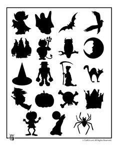 Printable Halloween Templates Printable Halloween Shapes – Craft Jr. these have to printed out from site. they do not save to computor