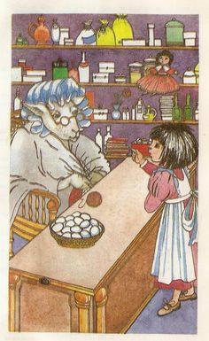 "Lewis Carroll ""Alice's Adventures in Wonderland"", ""Through the Looking-Glass"". Publisher: Rostov University, 1993  Translator: B.Zahodera and V.Orla  Illustrator: Helena Korobkova"