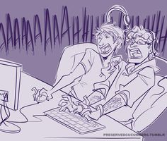 Michael Jones at the keyboard and Gavin Free at the mouse :3