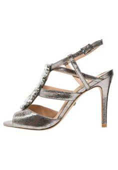 Sandaalit nilkkaremmillä - craquelle aluminium Buffalo, Bride, Shoes, Fashion, Dress, Shoes Sandals, Boyfriends, Heeled Sandals, Silver