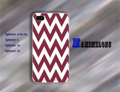 Chevron  Maroon and White iPhone 5 Case iPhone 4S by hamimelons, $7.99