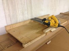 Circular Saw Crosscut Jig by Keith William Knull - This Jig was originally designed to cut aluminum soffit but has been used with great success to also cut Hardie battens and Hardie siding. The greatest feature is the open access that allows for easy loading of material against a stop block for batch processing.It has an 18 1/2