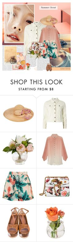 """Summer Scent"" by rainie-minnie ❤ liked on Polyvore featuring Oris, Maison Michel, Dorothy Perkins, Zimmermann, Topshop, Gucci, Derek Lam and Cultural Intrigue"