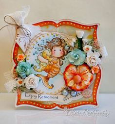 Pearl Tilda from Summer Memories Collection, Magnolia stamps