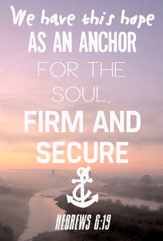 our anchor.