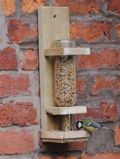 Wine Bottle Bird Feeder #DuVino #wine www.vinoduvino.com
