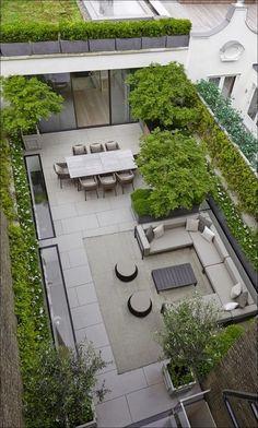 Beautiful Simple & Fresh Small Backyard Garden Design Ideas – Garden is craft Small Backyard Gardens, Backyard Garden Design, Terrace Garden, Small Patio, Small Yards, Balcony Gardening, Small Backyards, Rooftop Terrace Design, Terrace Ideas