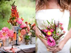 Blood orange champagne punch perfectly complements the color palate of the flowers. Photo by flutter glass Photography; shoot designed by Courtney Cole, Jenna Kageyama, Emilia Keene-Kendrick and Erin Lepperd