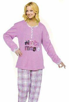 Kuscheliger Damen Schlafanzug mit kariertem, farblich abgestimmten Unterteil.Innen angerauht. Oberteil erhältlich in den Farben rosa,lila,hellblau. Größe M-XXXL Vexcon, http://www.amazon.de/dp/B00ALHAB9W/ref=cm_sw_r_pi_dp_75Ustb0591XPP