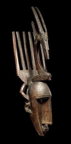 Africa | Mask from the Bamana people of Mali | Wood