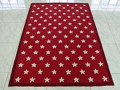 Stars Rug In Red U0026 White Or Blue U0026