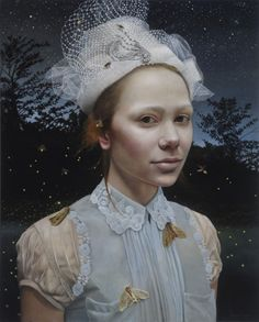 Andrea Kowch - Nocturne / 30x24. I absolutely love all of Andrea's works, but I have a feeling this is going to be one of my favorites with Camille LaMontagne as muse.