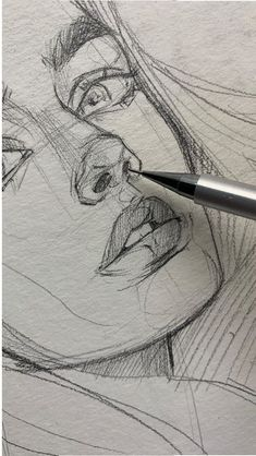 42 ideas drawing art ideas sketches creative sketchbooks for 2019 - Art sketchbook - Art Sketches Cool Art Drawings, Pencil Art Drawings, Art Drawings Sketches, Sketch Art, Hair Drawings, Doodle Sketch, Realistic Drawings, Face Sketch, Girl Sketch