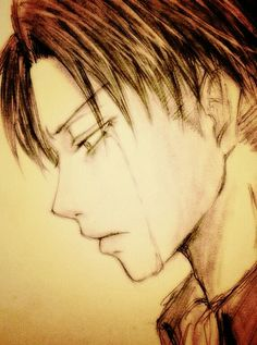 Levi Rivaille--- I imagine this happening he returns inside the walls, after his squad was basically wiped out, and he meets Petra's father.