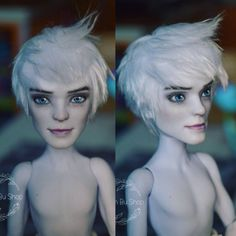 OOAK Jack Frost from Rise of the Guardians by Madam Bu. Monster High House, Custom Monster High Dolls, Monster High Repaint, Custom Dolls, Doll Painting, Doll Repaint, Doll Maker, Star Vs The Forces Of Evil, Ooak Dolls