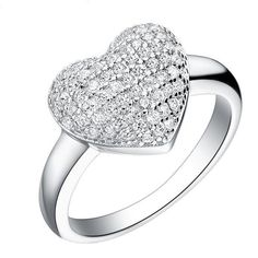Micro Pave Silver Plated Rings for Women – uShopnow store
