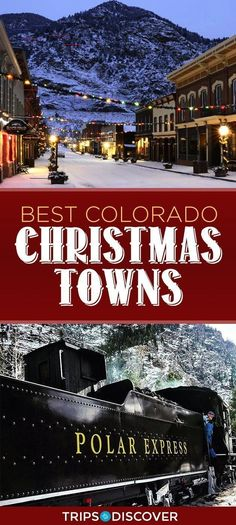 9 Best Christmas Towns to Visit in Colorado Christmas Travel Estes Park Colorado, Aspen Colorado, Colorado Winter, Colorado Trip, Moving To Colorado, Fort Carson Colorado, Colorado Mountains, Colorado Vacations, Living In Colorado