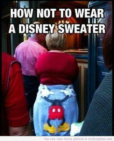 How to not to wear a disney sweater — kid jokes  - http://www.myfunjokes.com/funny-jokes/how-to-not-to-wear-a-disney-sweater-kid-jokes/ #humor  #prank  #funnypictures  #funnyanimal  #dog  #haha  #cute