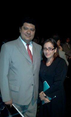 Viendal Morales y Vilma Salinas, viejos miembros del Coro Arpegios