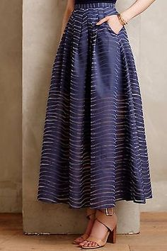 Anthropologie Pacific Waves Maxi Skirt By Stella & Jamie Sz 4 $198 SAMPLE