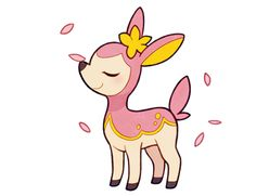 This is Deerling, an NPC. She is a student. (Female)