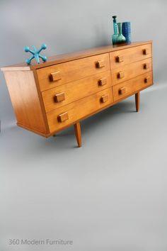 MID Century Modern Sideboard Chest Drawers Alrob Teak Retro Vintage Danish Parker era in VIC   360 Modern Furniture eBay