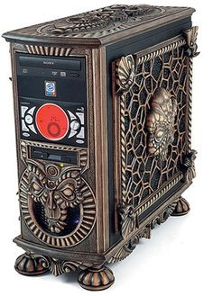 This is a new collection of creative and awesome custom PC cases. In case you missed it, here is our previous collection of Awesome Custom PC Cases… Style Steampunk, Steampunk House, Steampunk Design, Victorian Steampunk, Steampunk Fashion, Victorian Era, Gothic, Alter Computer, Computer Case