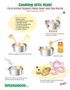 Recipes: Tea Party | Speakaboos Worksheets