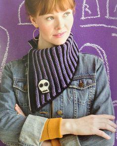 Spooky crochet scarf