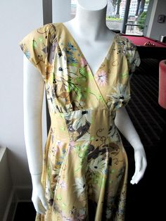 Vintage Floral Dress Emil of California 1950s Classic Swing  #EmilofCalifornia #EmpireWaist #Everyday