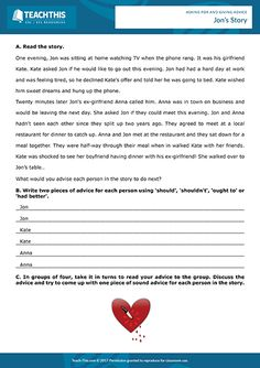 Giving Advice ESL Games Activities Worksheets English Speaking Game, Speaking Games, English Teaching Materials, Teaching English, Help Teaching, Teaching Resources, Activity Games, Activities, Feel Tired