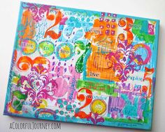 Carolyn Dube - The Art is Talking to Me Again – Mixed Media Tutorial