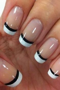 Awesome french manicure designs ideas for women 18 #nailart #DIYManicure