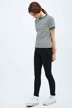 Shop Cooperative by Urban Outfitters Stripe Ringer Tee in Ivory at Urban Outfitters today. We carry all the latest styles, colours and brands for you to choose from right here. Beautiful Outfits, Cute Outfits, Ringer Tee, Pants Outfit, Fashion Outfits, Fashion Ideas, Her Style, Passion For Fashion, Casual Chic