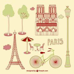 Paris scribbles Free Vector. More Free Vector Graphics, www.123freevectors.com