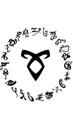 Mortal Instruments Wallpaper, Mortal Instruments Runes, Shadowhunters The Mortal Instruments, Alphabet Symbols, Rune Symbols, Wallpaper Series, Hunter Tattoo, Shadowhunters Series, City Of Bones