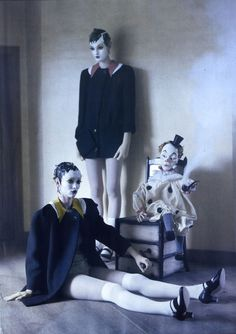 """""""MECHANICAL DOLLS"""" featuring Audrey Marnay and Kirsi Pyrhonen for Vogue Italia shot by Tim Walker.07"""