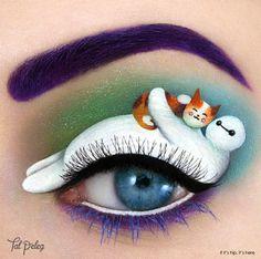 baymax and mochi Big Hero 6 eye makeup copy