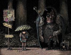 Arya and The Hound - Studio Ghibli