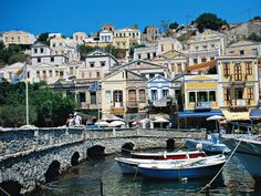 Symi Greece, Places To Go, Island, Mansions, Park, House Styles, City, Travel, Spaces