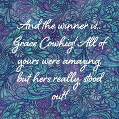 Congrats Grace Cowhig!