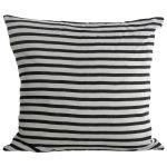 Stripe tyynynpäällinen 50x50, musta/valkoinen