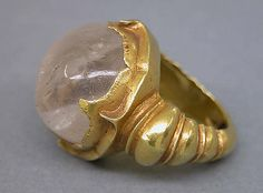 Ring with Circular Clear Stone Period: Central Javanese period Date: Second half of the 8th–second half of the 10th century Culture: Indonesia (Java)