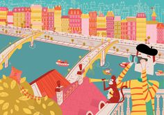 Bologna Children's Book Fair Submission by Robyn Mitchell. Jacques and Pepi spy out the land.