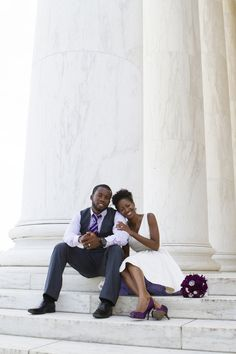 Natasha and Dwayne exchanged vows at the DC War Memorial on a Sunday morning. Natasha's mother and Dwayne's best friend were also in attendance. Following the ceremony, Natasha and Dwayne went to T...