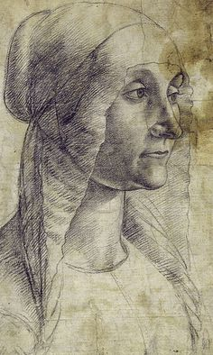 Domenico Ghirlandaio - Bust of a woman with bonnet by petrus.agricola, via Flickr